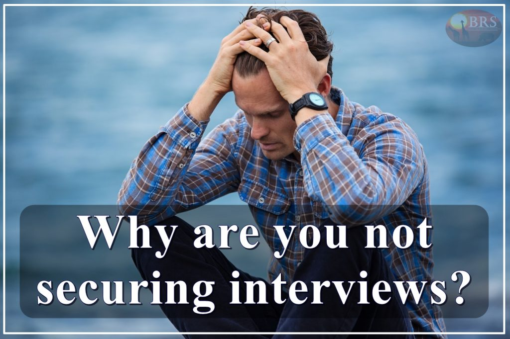 Why are you not securing interviews