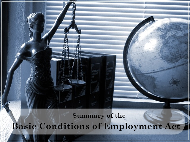 Summary of the Basic Conditions of Employment Act