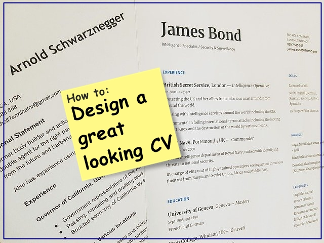 a great looking CV