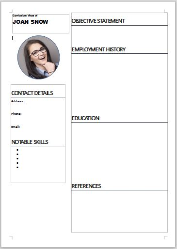 Easy to download free CV template
