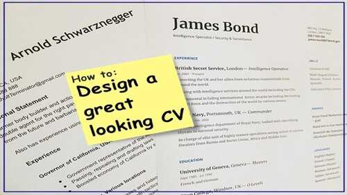 Design a great looking CV